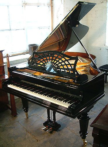 A 1909, Bechstein Model A grand piano for sale with a polished, black case at Besbrode Pianos