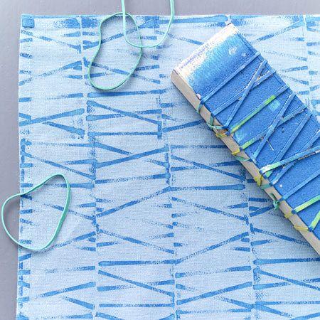 Stoff bedrucken - bunte Geschirrtücher, Taschen etc. - gummiband  Rezept