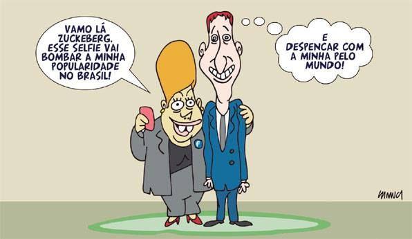 HELLBLOG: Na charge, Dilma e dono do Facebook, Mark Zuckerbe...