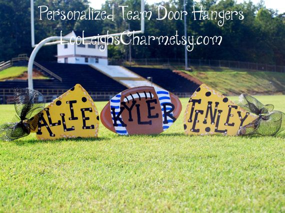 Football Door Hanger, Cheerleader Gift, Megaphone Sign, Custom on Etsy, $14.00
