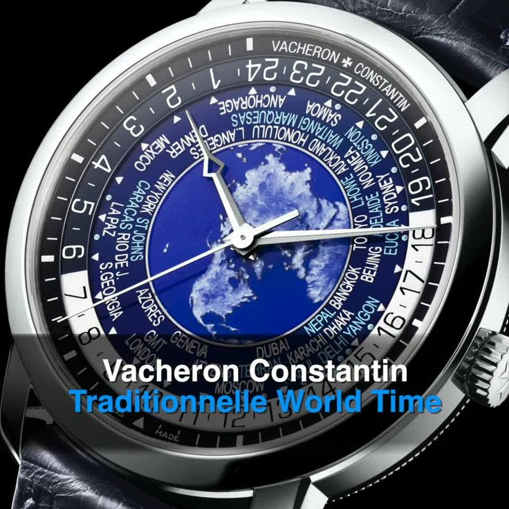 Most competitors' models only offer 24 time zones in 1 hr increments but Vacheron Constantin's truly superlative Traditionnelle World Time features 37 time zones including 30 & 15 min incrementals which means the world traveller can now see more cities including Adelaide, New Delhi, Nepal, Yangon.  First launched in 2016 as part of the NEW Overseas collection, 2017 sees an exclusive addition with a hand-enamelled gold world map in a 10-piece platinum limited edition.