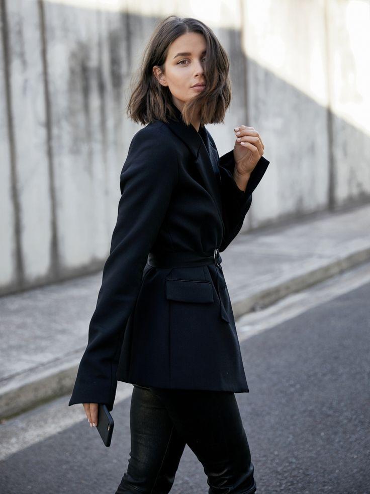 Georgia Alice black blazer   cropped leather pants   style   outfit   HarperandHarley