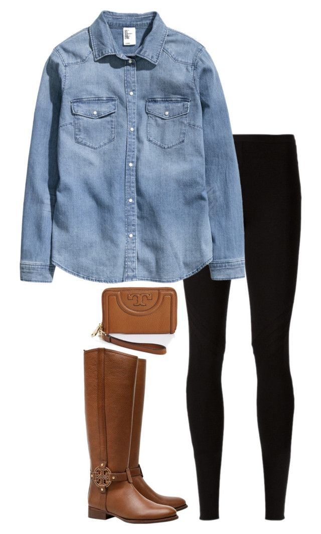 """""""Winter Basics"""" by sc-prep-girl ❤ liked on Polyvore featuring Rick Owens Lilies, H&M and Tory Burch"""