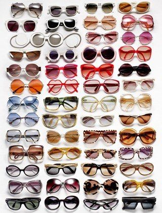 """I don't wear makeup every day, so big, bright vintage sunglasses are my way of dressing up my face. I buy new pairs wherever I go: vintage shops in Los Angeles, Midwestern flea markets I visit while on tour with my husband [musician Joel Madden.] My collection numbers in the mid-hundreds—and I always carry at least three or four styles with me at all times."" Love, Nicole."