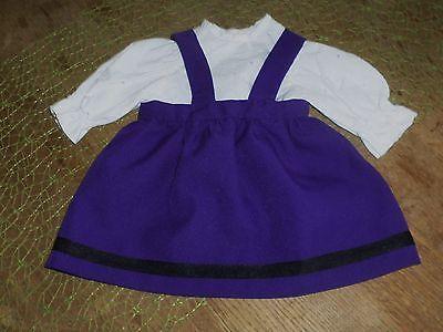 Puppenkleidung-Rock-lila-Bluse-weiss-NostalgiePuppen-Schildkroetpuppe-60