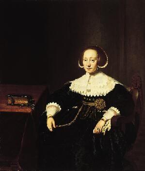 Кейзер Томас Хендрикс де (1596/97 - 1667) - Портрет женщины (1637, Norton Simon Museum)