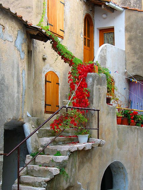 Home Entrance in the City of Baska on the Isle of Krk in Croatia by Frankipanki