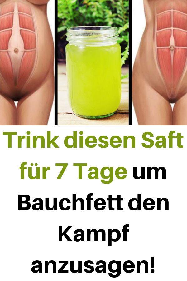 Trink diesen Saft für 7 Tage um Bauchfett den Ka…
