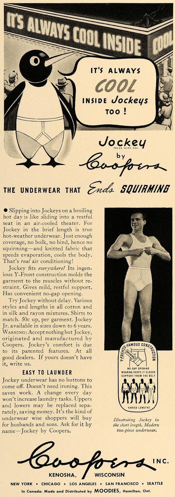 1938 Ad Coopers Inc. Jockey Men Underwear Clothing - ORIGINAL ADVERTISING ESQ1