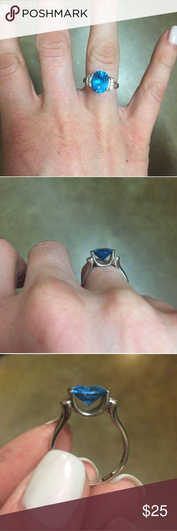 Blue Topaz Ring Costume Jewelry