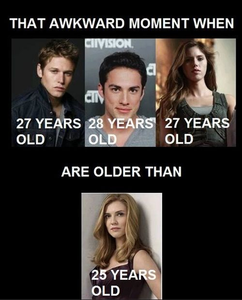 That awkward moment when Zack, Tyler and Vicky are older than aunt Jenna. Yeah kinda weird. Oh.. Stefan and Damon are older than her too.