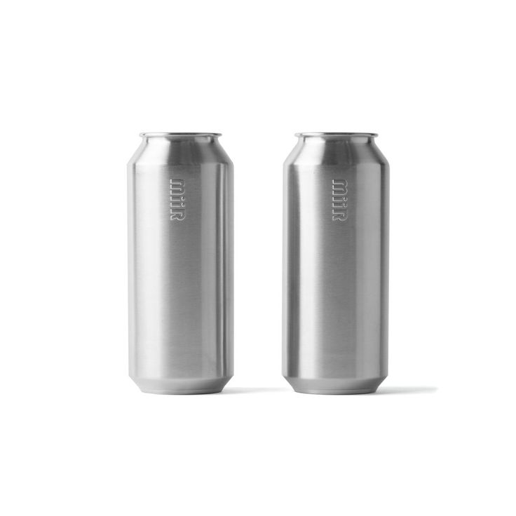 Stainless Tall Boy Pint Cups, Set of Two