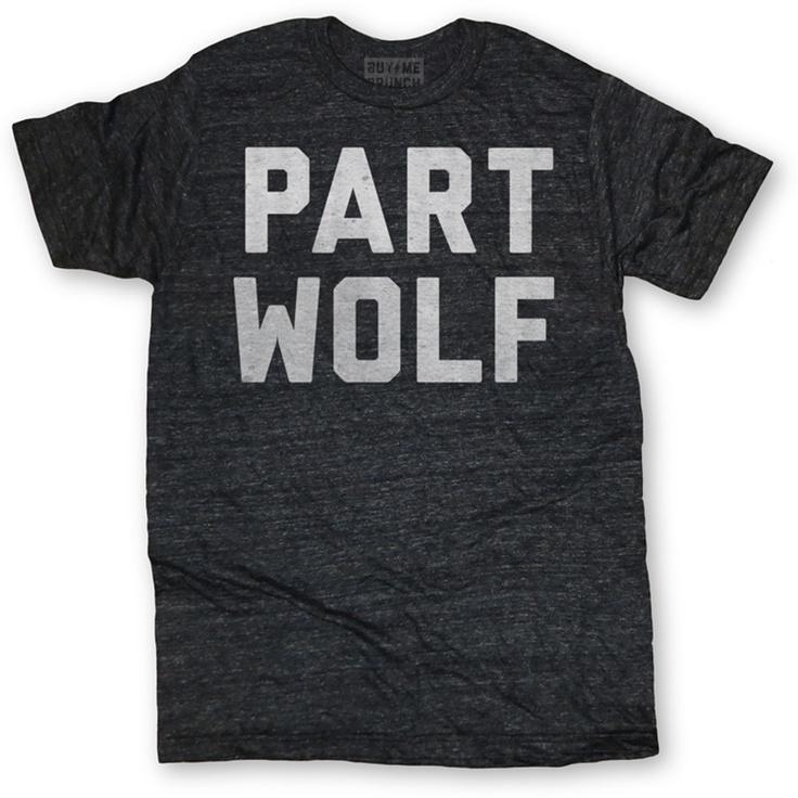 Part Wolf Tee Men's #werewolf