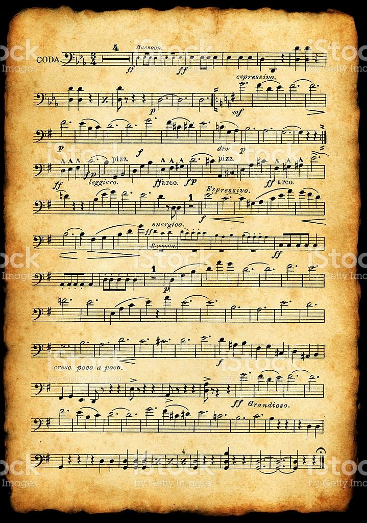 old sheet music - scanned from a 110 years old partiture