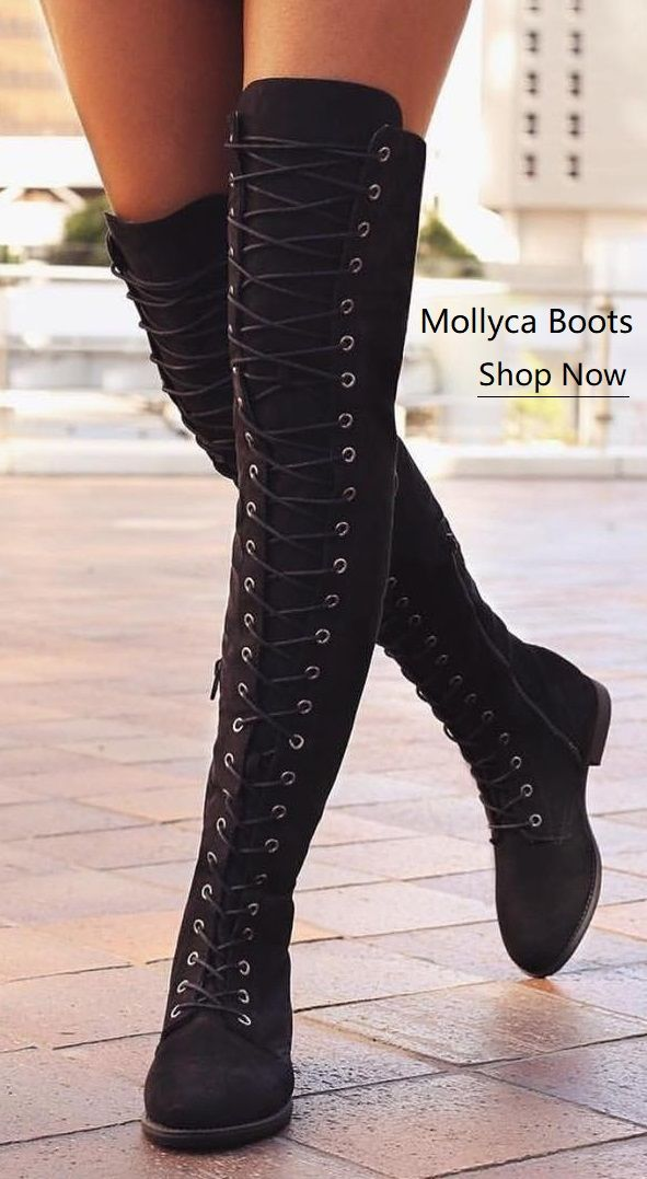 800c3772668  47.69 USD Sale! Free Shipping! Shop Now! Low Heel Flat Lace Up Boots  Zipper Shoes Thigh High Over Knee Boots