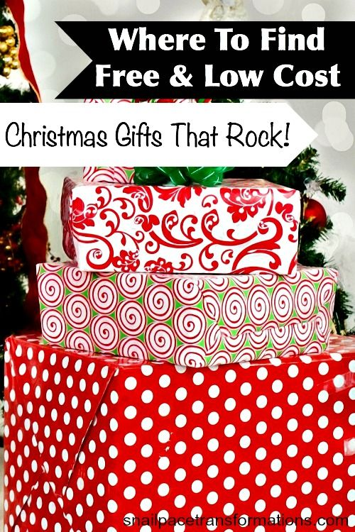 Find great Christmas gifts for loved ones on your gift list for very little money or even free through these sources.