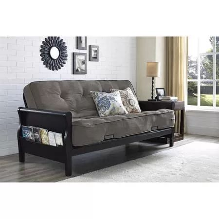 Better Homes and Gardens Wood Arm Futon with Coil Mattress