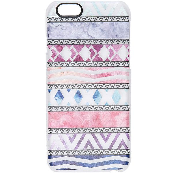 Casetify Abstract Pattern iPhone 6 / 6s Case found on Polyvore featuring accessories, tech accessories, phone cases, phones, tech, aztec, aztec print iphone case, apple iphone cases, iphone cover case and aztec iphone case
