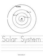 solar system handwriting sheet scout projects pinterest nature solar system and solar. Black Bedroom Furniture Sets. Home Design Ideas