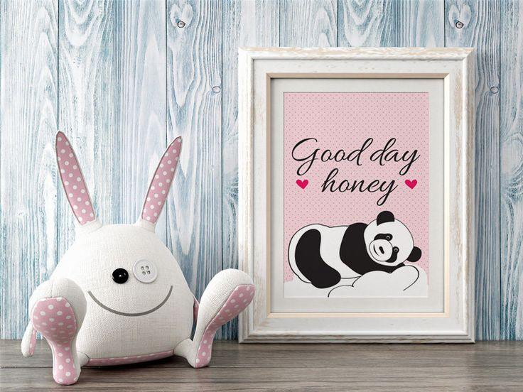 Black and white panda bear on a pink background, Dot, For a newborn baby, For Kids, Birthday, Housewarming Gift, Home decor,Gift idea by MerryGallery on Etsy