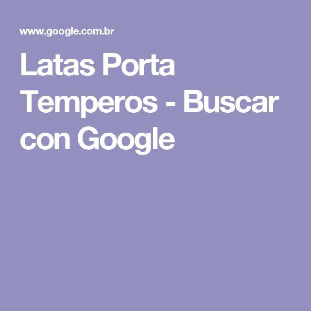 Latas Porta Temperos - Buscar con Google