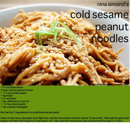 Cold Sesame Peanut Noodles | recipes | Pinterest