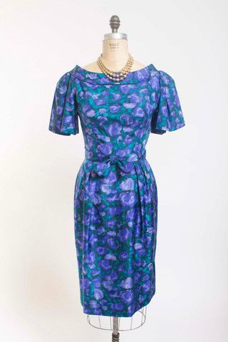 Rhapsody in Blue Dress - Simply Vintage  - Suzy Perette 1950s