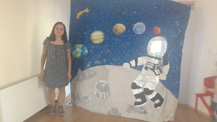 Stajyer öğretmenimizden uzay köşesi. #spaceforkids