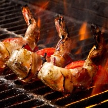 Drunken Prosciutto Wrapped Grilled Shrimp