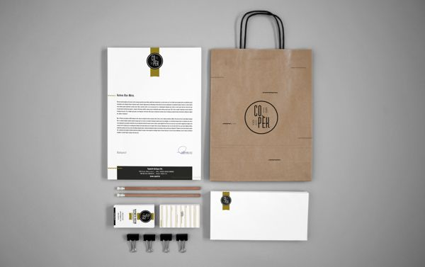 Co_pek identity for a bakery that produces only hand made goods.