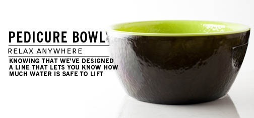 Stylish pedicure bowls by Noel Asmar