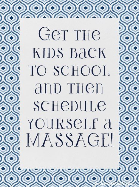 Back to school massage is such a needed massage. Call or schedule online @ www.relaxinnashvillemassage.com ~ 615.524.9272