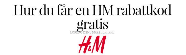 Andrea Bergwall: Hur du får en HM rabattkod gratis - Nouw