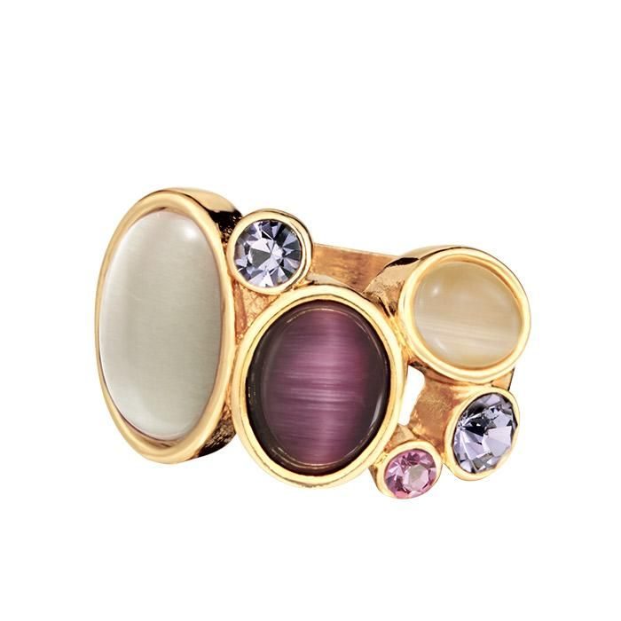 Make an impression! Enhance your look with the Calypso Sunrise Ring featuring an open work band with colored stones and rhinestones.     #Ring #Avon #Jewelry – for more Avon Jewelry, go to https://barbieb.avonrepresentative.com