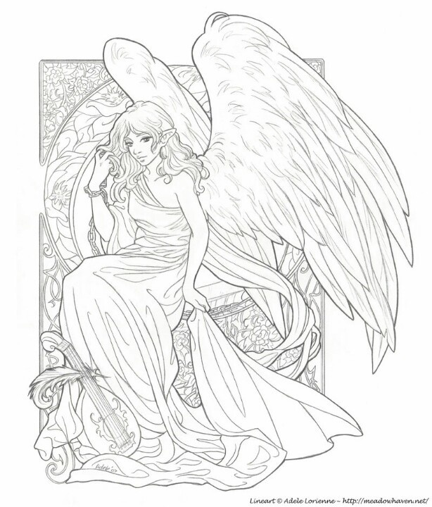149 best Angel coloring images on Pinterest | Coloring books, Print ...