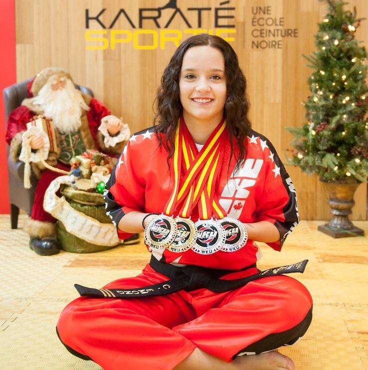 Félicitations a Chanel Emond, championne du monde WKU, représentant le Groupe Karaté Sportif.