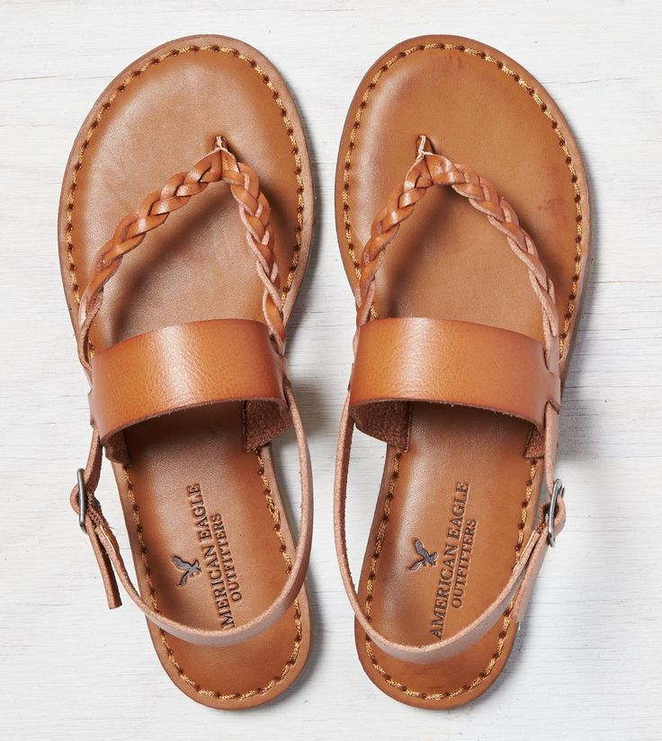 Tan AEO Braided & Wide Strap Sandal
