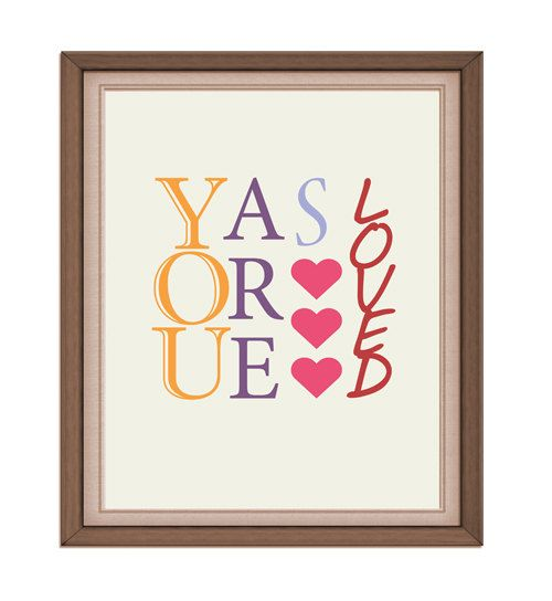 INSTANT DOWNLOAD  you are so loved  Printable by rabbitsillusions