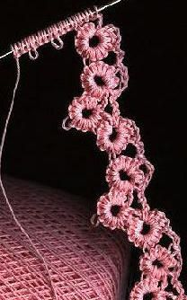 DIY: Crochet Tatting Designs & Tutorials #tat #tatted #needle tatting {messy looking, maybe use 2 less chains between?}