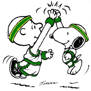 high five snoopy :)