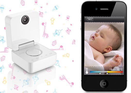 iphone-compatible baby monitor (to be released this fall).: Baby Technology, Baby Monitor Oh, Cool Baby Gadgets, Iphone Compatibility Baby, Iphone Baby, Smart Baby, Baby Monitor, Compatibility Monitor, Videos Monitor