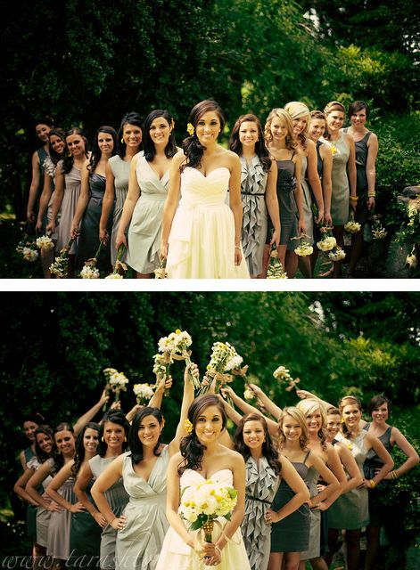 Love this shot with the bridesmaids