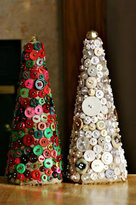 I love buttons, as a child I used to love sorting them out in hundreds of different ways and looking at all the different sizes, shapes and colours.  Here's some inspiring ideas for Christmas cra...