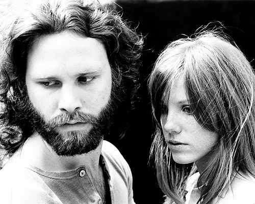 """They were like Romeo and Juliet. They fought like hell, but they were meant to be together"". -John Densmore  Jim Morrison & Pam Morrison, photographed by Edmund Teske, 1969"