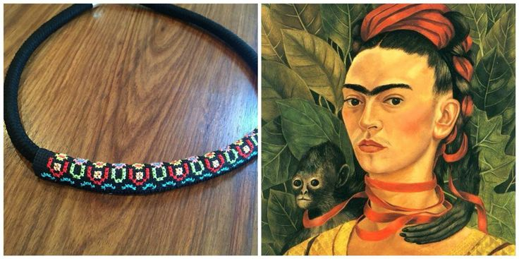 Frida Kahlo inspired necklace by Alchemy Loop