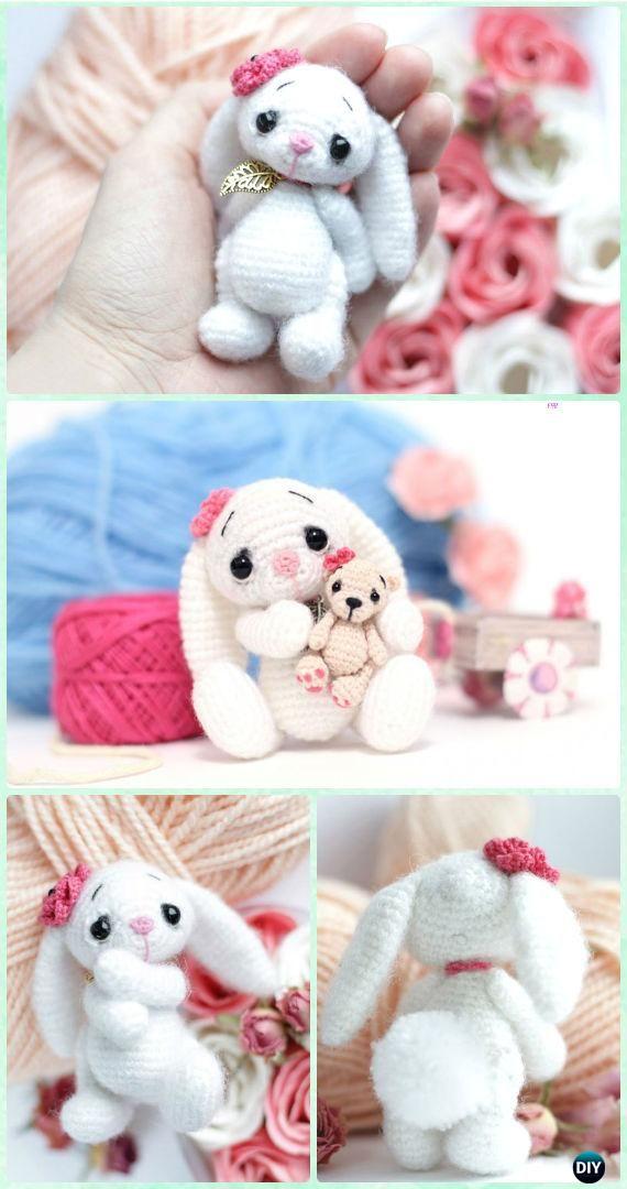 Crochet Small Amigurumi Bunny Free Pattern #Crochet;