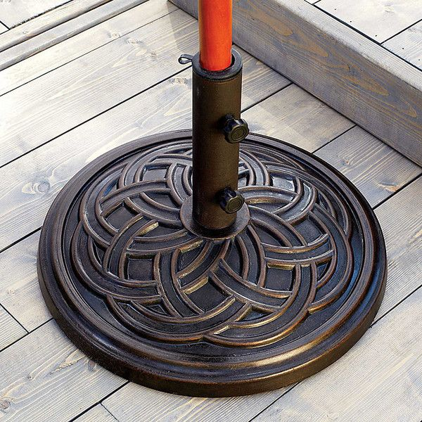 Improvements Connecting Circles Umbrella Base ($50) ❤ Liked On Polyvore  Featuring Home, Outdoors. Umbrella HolderUmbrella StandsPatio ...