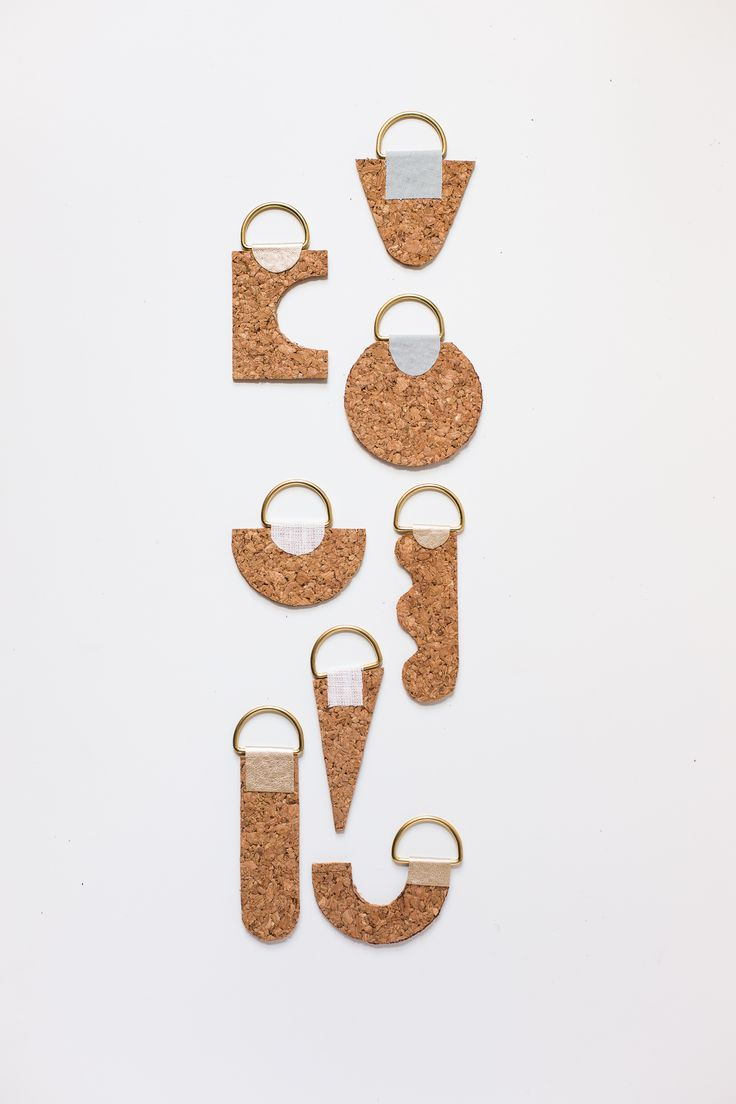 Curate your Keychain with these DIY Contemporary Cork Keyrings
