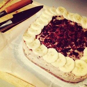 Stracciatella roomtaart met banaan van De Gezonde Mama