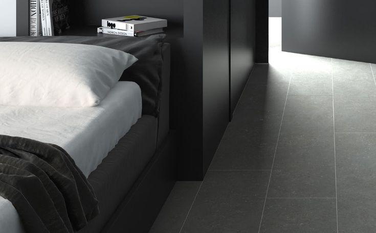 Limewash Coal - Tiles - Surface Gallery #greyfloortiles #bathroomtiles #charcoaltiles